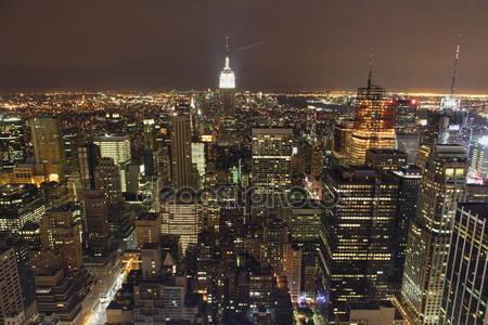 Фотообои Обзор нью-йорка ночью