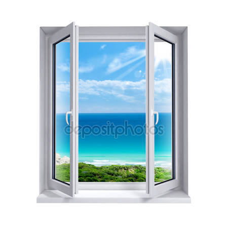 Фотообои Открытое окно к морю