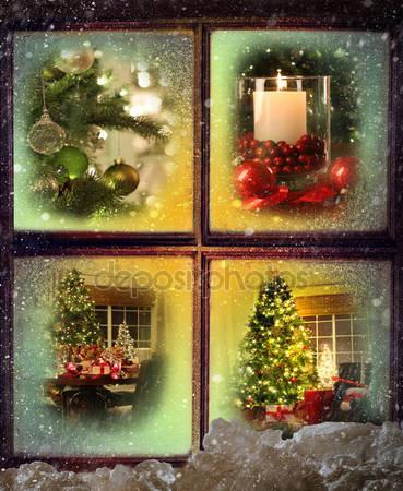 Окно и сцены рождества