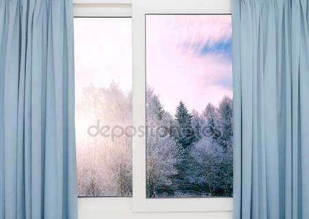 Вид из окна природу