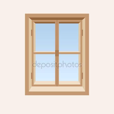 Деревянные закрытое окно