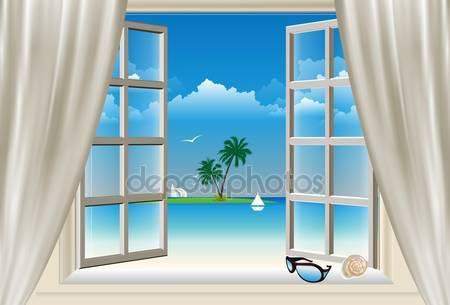 В окно