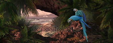 Попугаи карибского моря