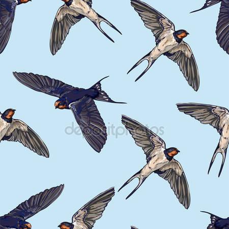 Фотообои Стая птиц