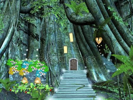 Фотообои Дерево и окна