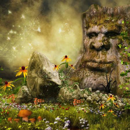Фотообои Фея дерево