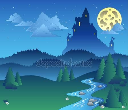 Сказка пейзаж ночью