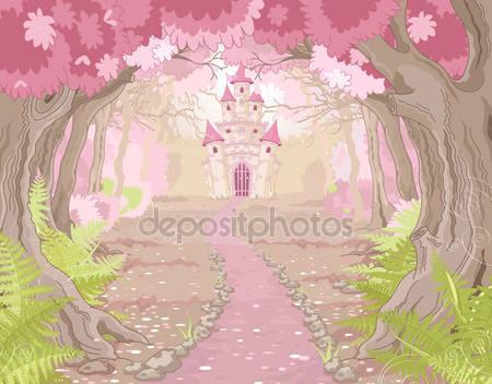 Волшебный замок пейзаж