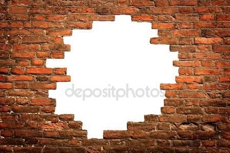 Белая дыра в старой стены
