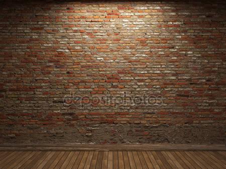 Фотообои Освещенная кирпичная стена