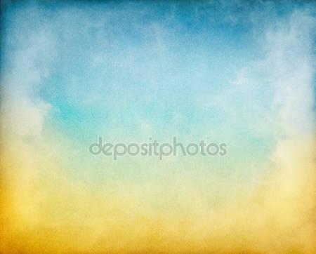 Желтые и синие облака