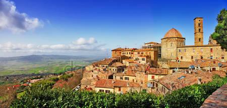 Средневековый город тосканы