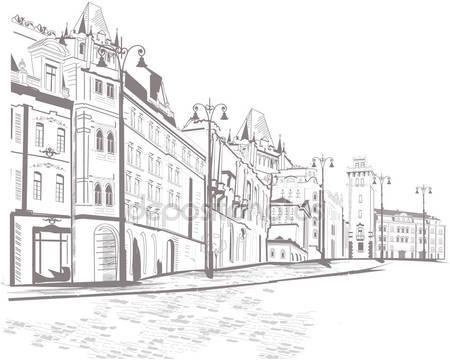 Ряд улиц в старом городе