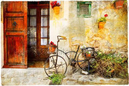 Очаровательная улица в деревне valdemossa