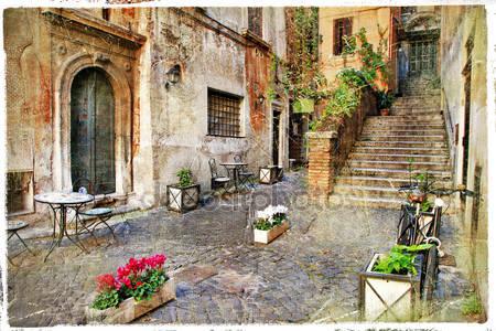 Старые улицы италии италия
