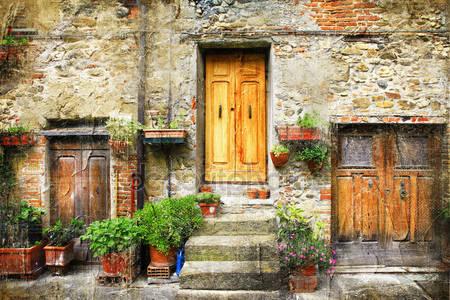 Фотообои Очаровывание улицы старых итальянских деревень