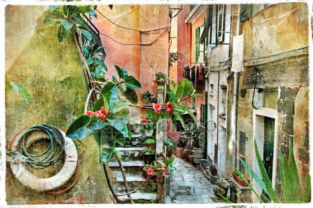 Старые улицы италии
