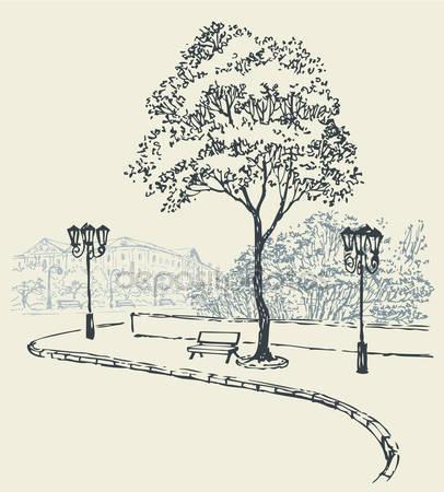 Скамья под деревом