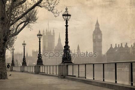 Винтажный вид на лондон