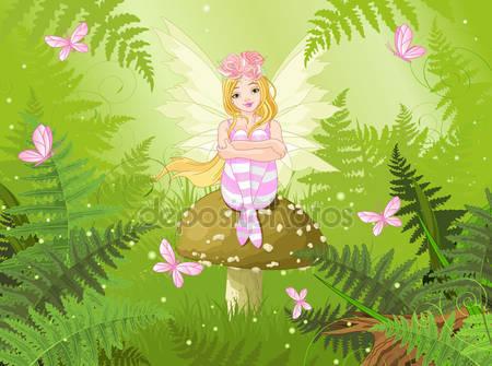 Волшебная фея в лесу