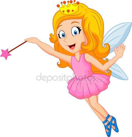 Фотообои Мультипликационная фея с волшебной палочкой