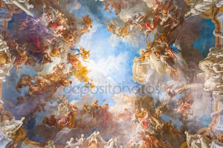Роспись потолка версальского дворца около парижа