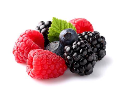 Свежие спелые ягоды в крупным планом