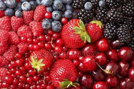 Различные ягоды фон