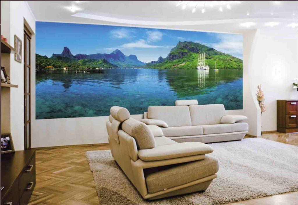Море и горы в гостиной